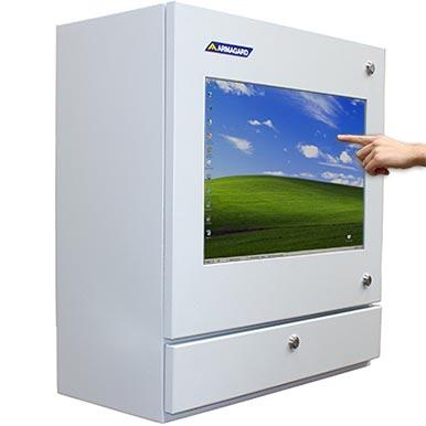 Przemysłowa Obudowa PC z ekranem dotykowym