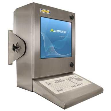kompaktowa wodoodporna obudowa komputerowa widok z przodu