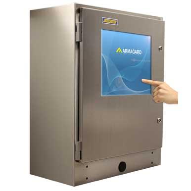 Wodoodporna obudowa do komputera z ekranem dotykowym